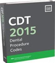 CDT 2015 Dental Procedure Codes
