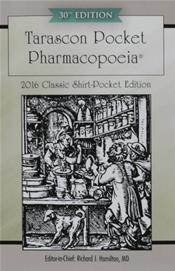 Tarascon Pocket Pharmacopoeia. Classic Shirt Pocket Edition 2016