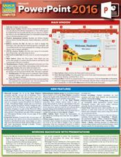Microsoft Powerpoint 2016 Laminated Guide Chart