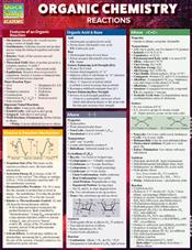 Organic Chemistry Reactions Laminated Reference Card