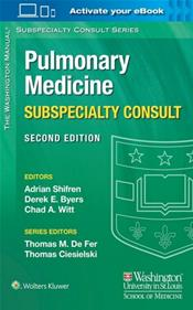 Washington Manual Pulmonary Medicine Subspecialty Consult. Text with Access Code Image
