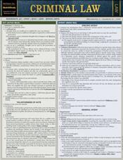 Criminal Law Laminated Reference Chart