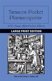 Tarascon Pocket Pharmacopoeia 2017: Classic Shirt-Pocket Edition. Large Print Edition
