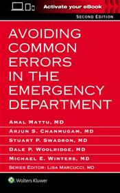 Avoiding Common Errors in the Emergency Department. Text with Access Code Image