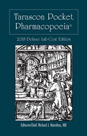 Tarascon Pocket Pharmacopoeia 2018. Deluxe Lab-Coat Pocket Edition