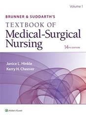 Brunner and Suddarths Textbook of Medical-Surgical Nursing. Single Volume. Text with Access Code Cover Image
