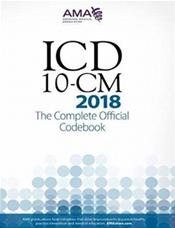 ICD-10-CM 2018: The Complete Official Codebook Cover Image