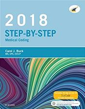 Step-by-Step 2018 Medical Coding Package. Includes Textbook and Workbook Image