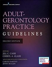 Adult-Gerontology Practice Guidelines. Text with Access Code Cover Image