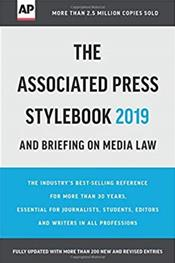 Associated Press Stylebook and Briefing on Media Law 2019 Cover Image