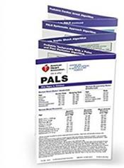 Pediatric Advanced Life Support (PALS) Pocket Reference Card. Based on 2010 American Heart Association Guidelines for CPR and ECC. 4 x 6 1/2 folded Cover Image