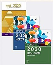 Bucks 2020 ICD-10-CM Physician Edition, 2020 HCPCS Professional Edition and AMA 2020 CPT Professional Edition Package Cover Image
