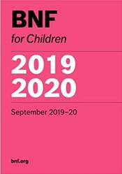 British National Formulary for Children 2019 - 2020 Cover Image