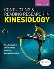 Conducting & Reading Research in Kinesiology. Text with Access Code Cover Image
