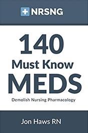 140 Must Know Meds: Demolish Nursing Pharmacology Cover Image