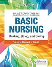 Davis Advantage Basic Nursing: Thinking, Doing, and Caring. Text with Access Code Cover Image