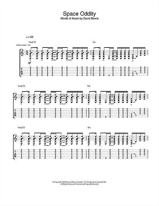 Colorful Guitar Chords Space Oddity Mold - Beginner Guitar Piano ...