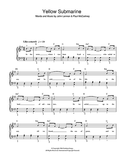YELLOW SUBMARINE CHORDS by The Beatles UltimateGuitarCom - oukas.info
