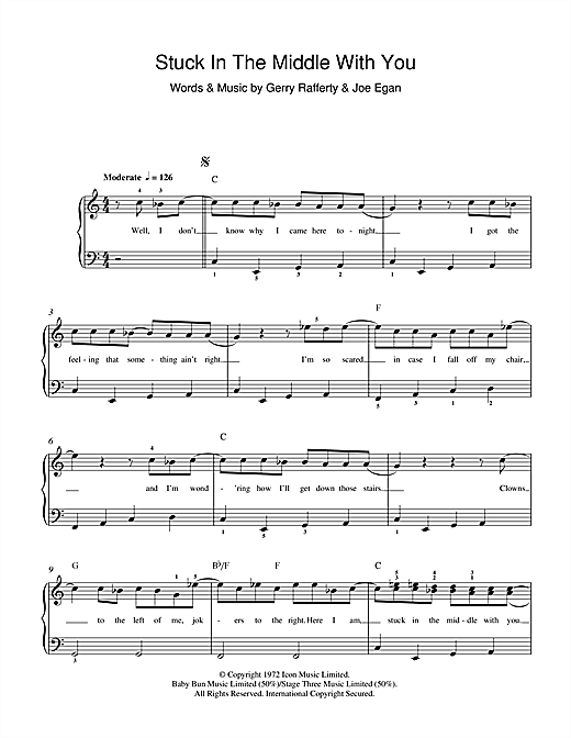 Stuck in the middle with you sheet music - for piano and more