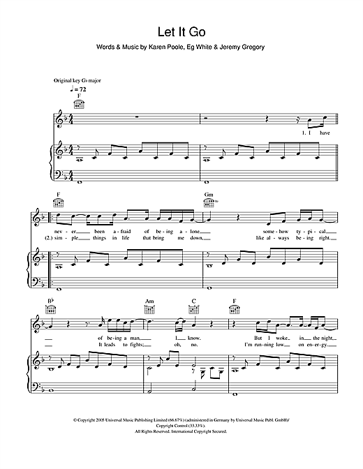 Piano piano tabs let her go : let it go guitar