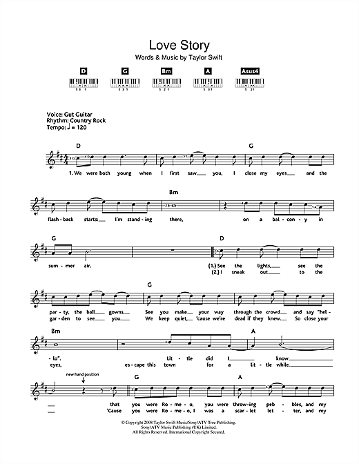 Love Story Guitar Chords Images - finger placement guitar chord chart