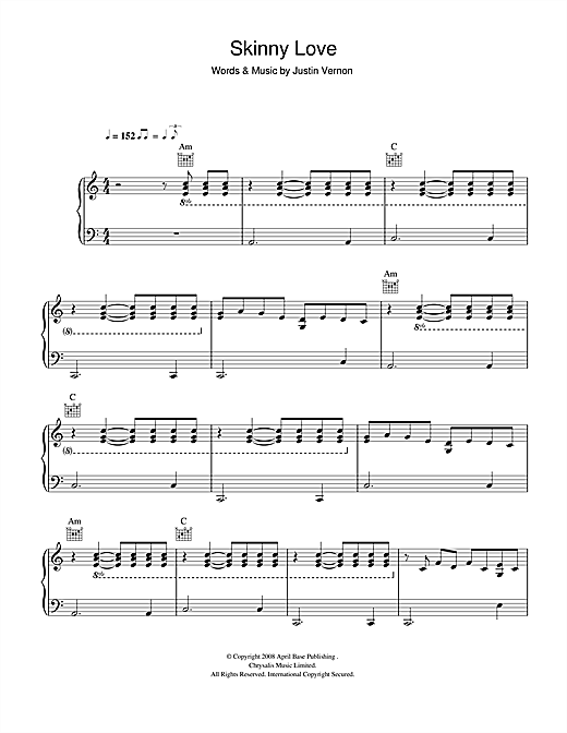 Chords For Skinny Love Piano Image Collections Chord Guitar Finger