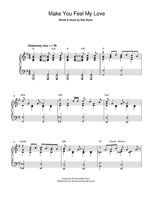 Attractive Adele Make You Feel My Love Chords Component - Song ...