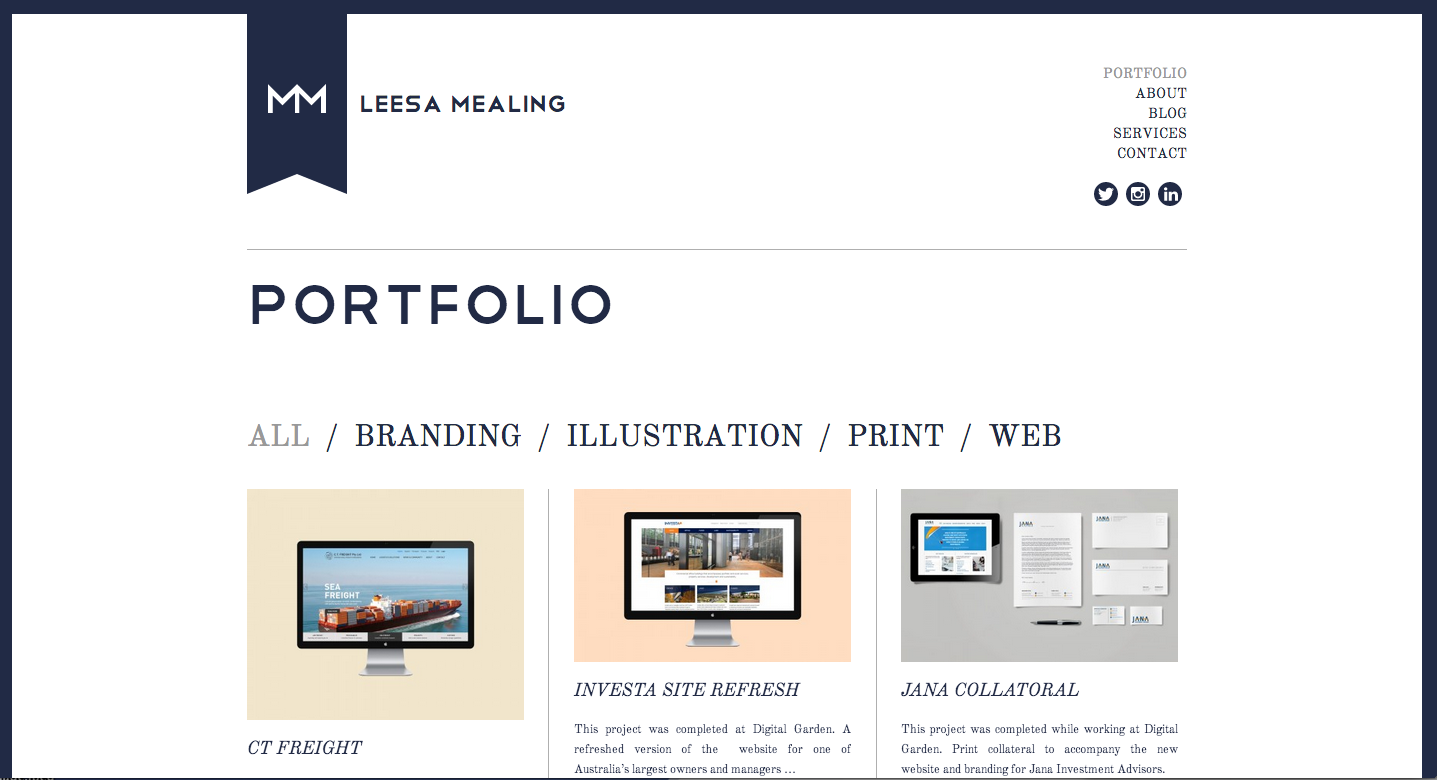 example of working portfolio