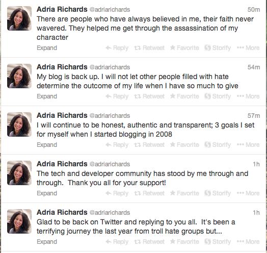 adria tweets
