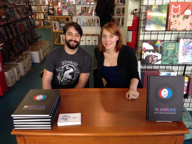 Marques & Rhymes at a book signing for The Joyners in 3D