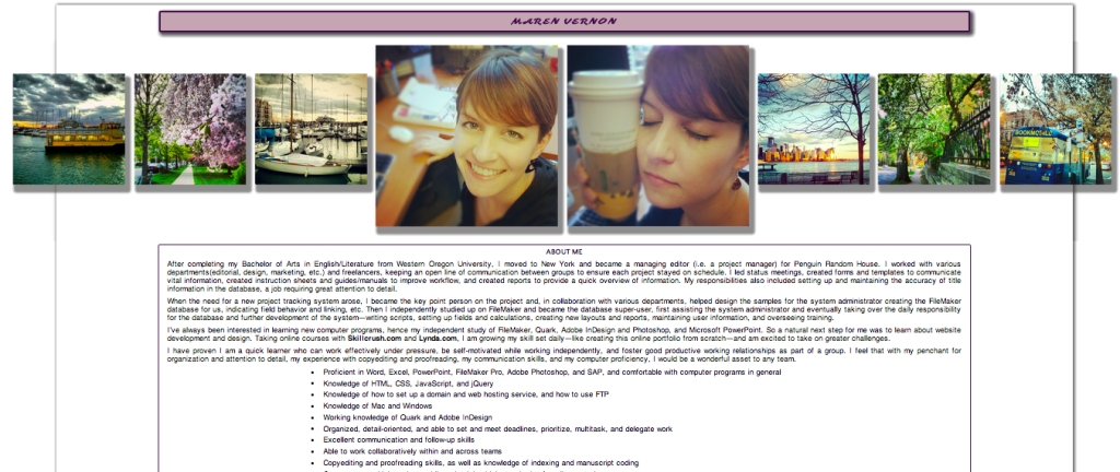 Maren Vernon Online Portfolio