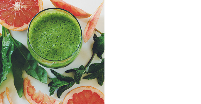Lily Diamond, The Summer Weekend Cleanser: Pink Grapefruit, Mint & Spinach