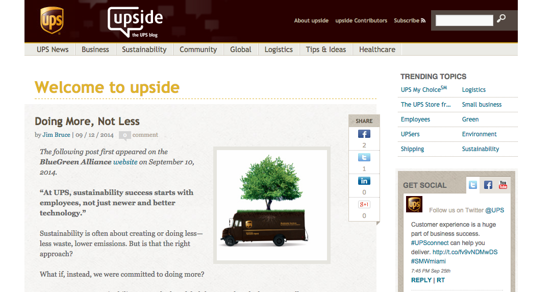 UPS Blog