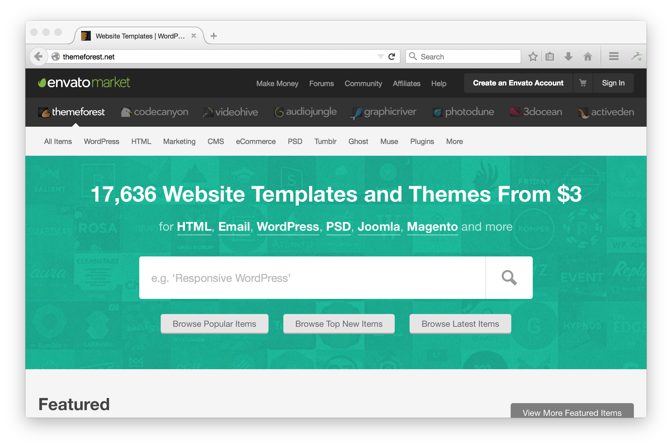 Sites you love built with rails themeforest is in the top 5 rails sites by traffic maxwellsz
