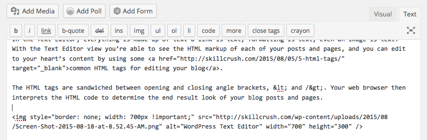Text Editor HTML Examples