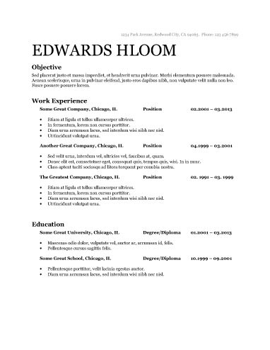 Free Resume Template  Company Resume Template