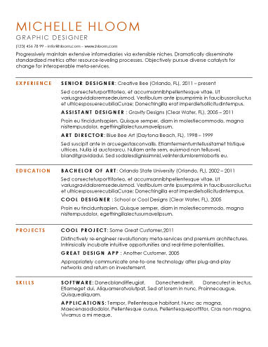 free resume template - Modern Resume Template Free Download
