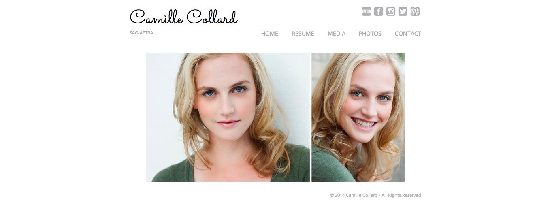 Camille Collard online portfolio