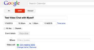 test google hangout video interview