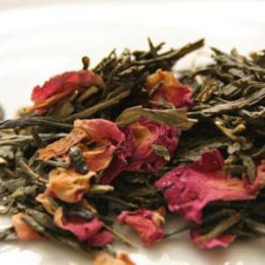 Sencha Cherry Rose Green Tea from Herbal Infusions