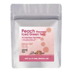 Peach Iced Green Tea Bags from Den's Tea