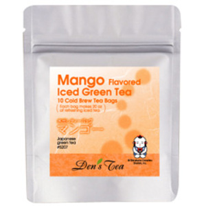Mango Iced Green Tea Bags from Den's Tea