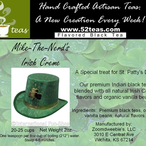 Mike-the-Nerd's Irish Creme Flavored Black Tea from 52teas