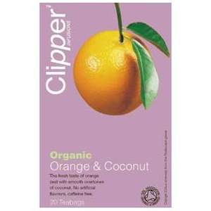 Organic Orange and Coconut from Clipper