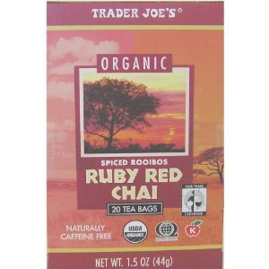 Ruby Red Chai spiced rooibos from Trader Joe's