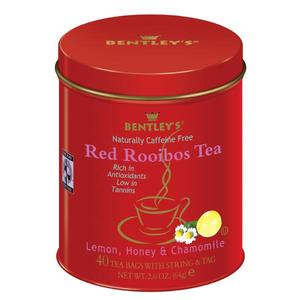Fair Trade Certified Lemon Honey & Chamomile Rooibos Red Tea from Bentley's
