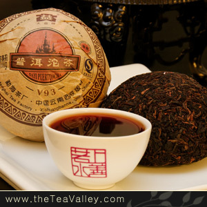 2009 Menghai Dayi V93 Puerh Tuocha from Tea Valley