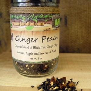 Ginger Peach from jar of tea