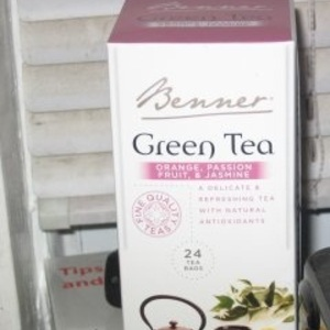 Green Tea with Orange, Passion Fruit &amp; Jasmine from Benner Tea