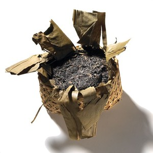 Liu-An Pu-erh, Woven Bamboo Basket from Mighty Leaf Tea